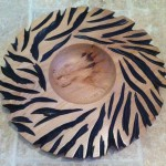 Zebra Print Bowl by Gary Brown